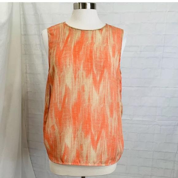 Michael Kors Tops - Michael Kors Women's L Top Tunic Orange Coral Logo